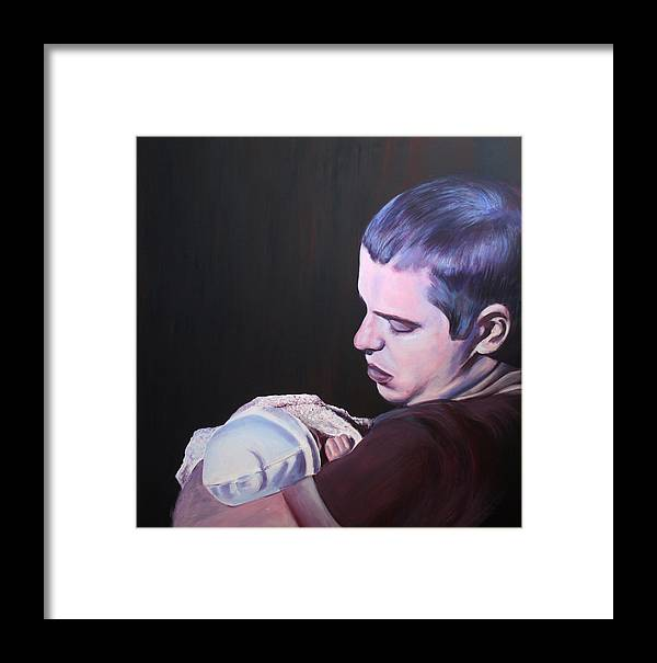 Portrait Framed Print featuring the painting New Beginnings by Fiona Jack