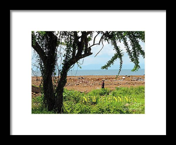 Encouragement Framed Print featuring the photograph New Beginnings by Lydia Holly