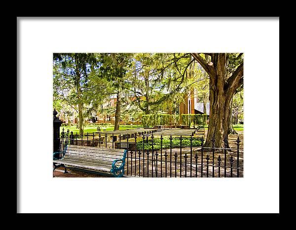 North Carolina Framed Print featuring the digital art New Bern Street Scene by Ches Black