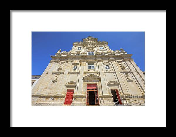 Coimbra Framed Print featuring the photograph New Cathedral Of Coimbra by Benny Marty