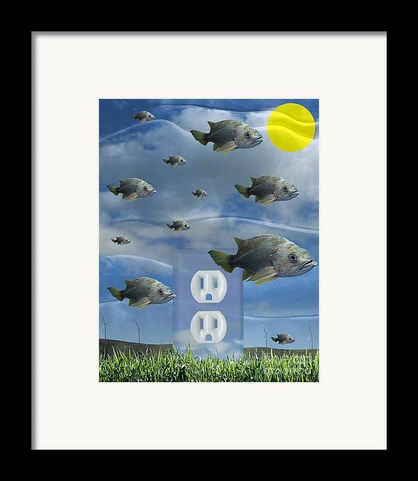 Digital Art Framed Print featuring the digital art New Energy by Keith Dillon