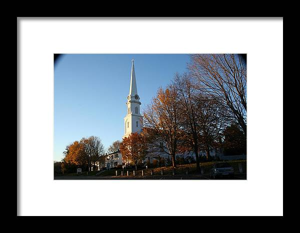 Landscape Framed Print featuring the photograph New England by Doug Mills
