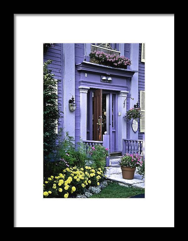 Inn Framed Print featuring the photograph New England Inn by Mark Coran