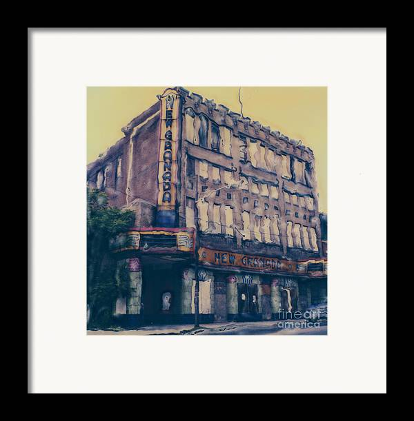 Polaroid Framed Print featuring the photograph New Granada Theatre by Steven Godfrey