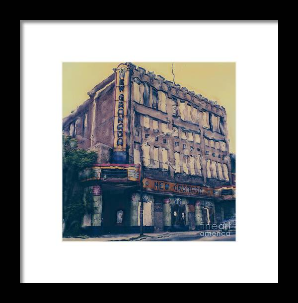 Polaroid Framed Print featuring the photograph New Granada Theatre by Steven Godfrey