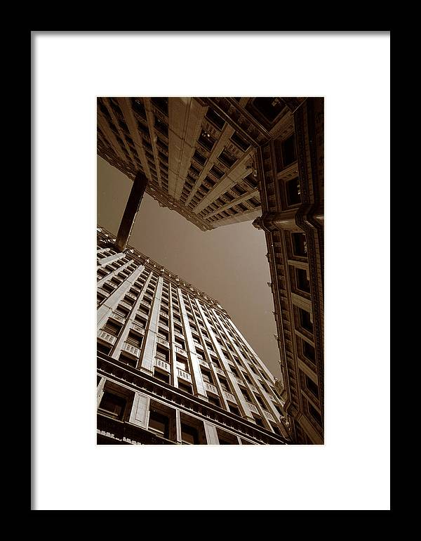 Chicago Framed Print featuring the photograph New Heights - Wrigley Building - Chicago by Dmitriy Margolin