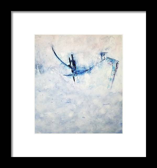 Abstract Art Framed Print featuring the painting New Heights by Linda Wimberly