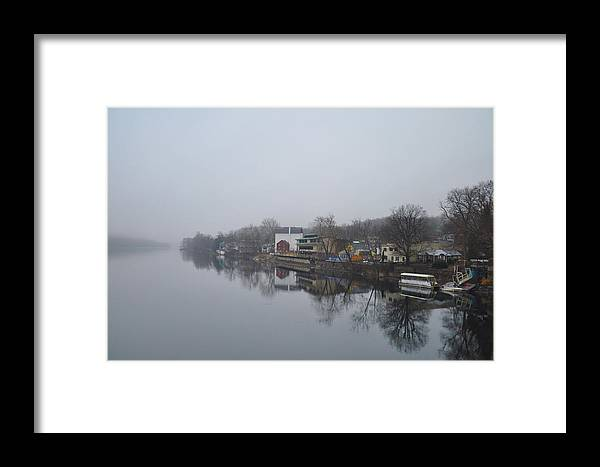 New Framed Print featuring the photograph New Hope River View On A Misty Day by Bill Cannon