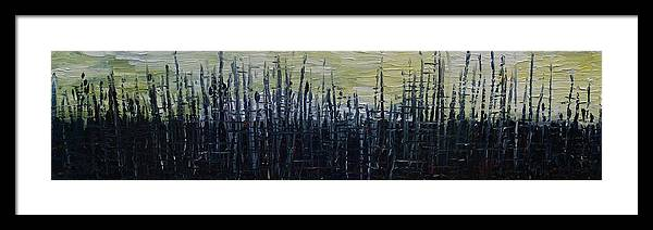 Abstract Framed Print featuring the painting New Horizons by Jacob Stempky