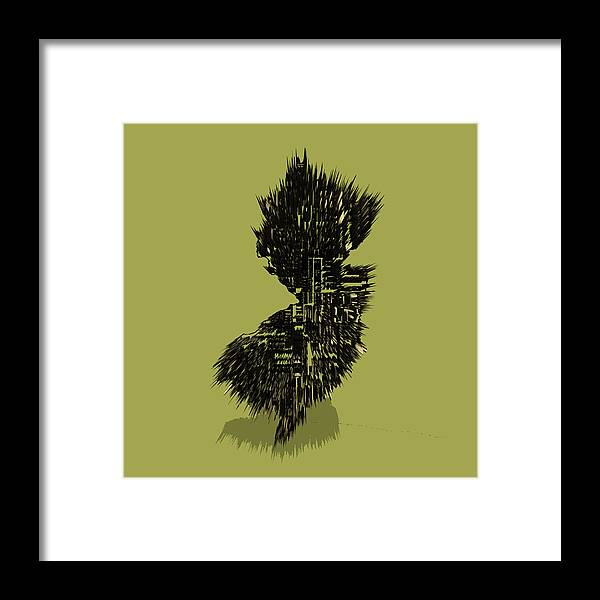 New Jersey Framed Print featuring the digital art New Jersey Typographic Map 4a by Brian Reaves