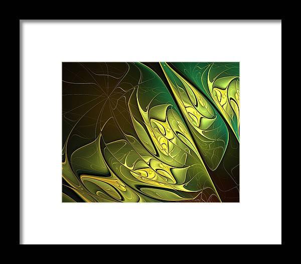 Digital Art Framed Print featuring the digital art New Leaves by Amanda Moore