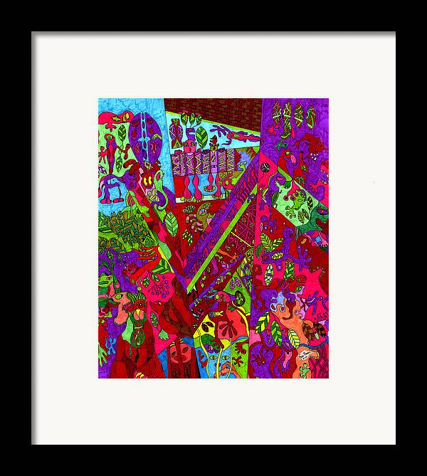 Birth Framed Print featuring the drawing New Life by Eric Devan