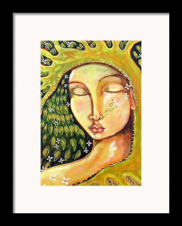 Tree Of Life Framed Print featuring the painting New Life by Shiloh Sophia McCloud