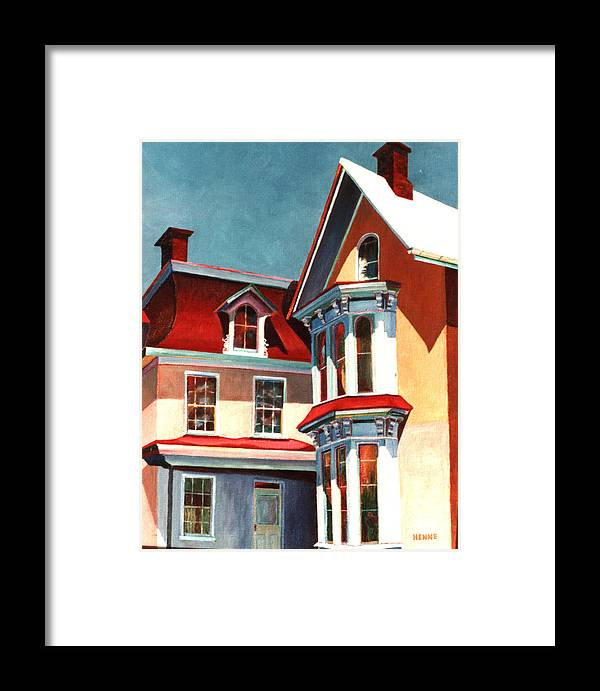 Old House Framed Print featuring the painting New Light On The Past by Robert Henne