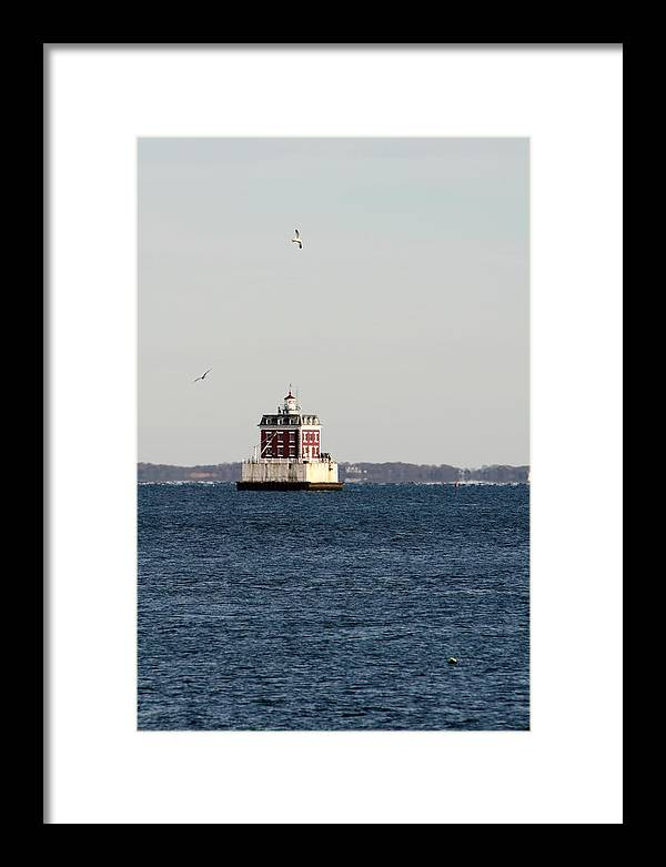 Landscape Framed Print featuring the photograph New London Lighthouse by Gerald Mitchell