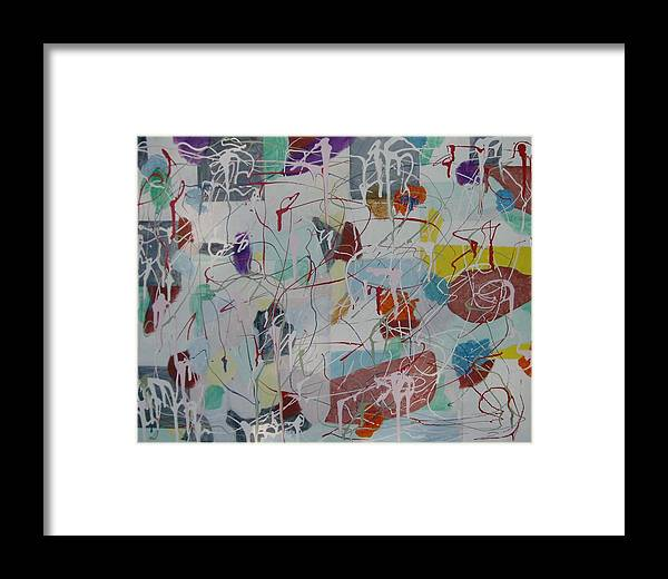 Dreamy Colours Framed Print featuring the painting New Love And Life Renewed by Harris Gulko