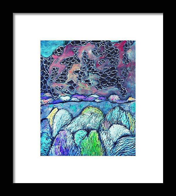 Landscape Framed Print featuring the painting New Mexico Landscape by Wayne Potrafka