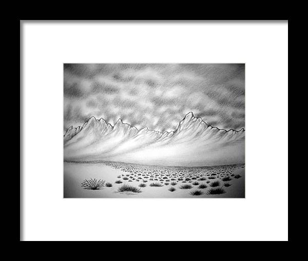 Framed Print featuring the drawing New Mexico Passage by Marco Morales