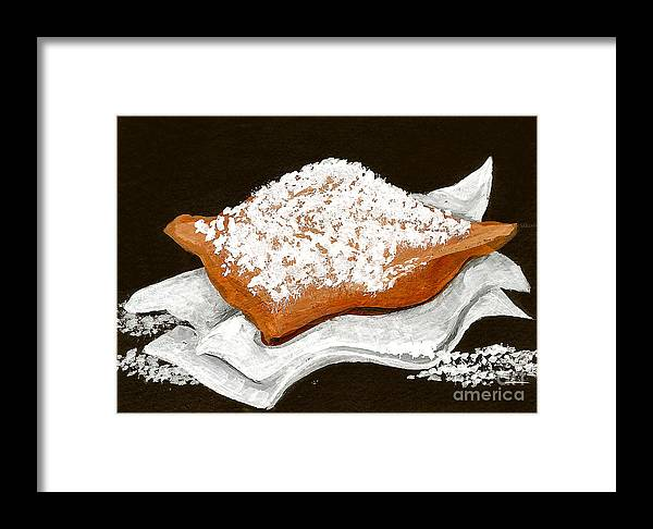 New Orleans Framed Print featuring the painting New Orleans Beignet by Elaine Hodges