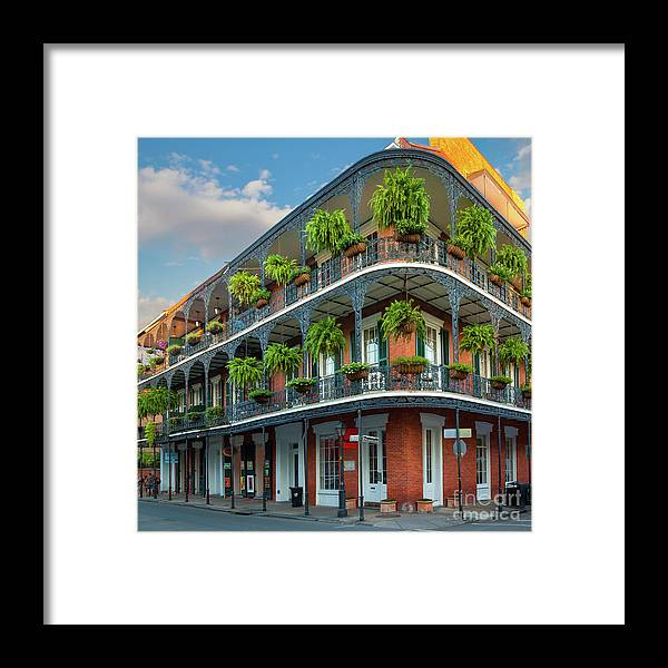 America Framed Print featuring the photograph New Orleans House by Inge Johnsson