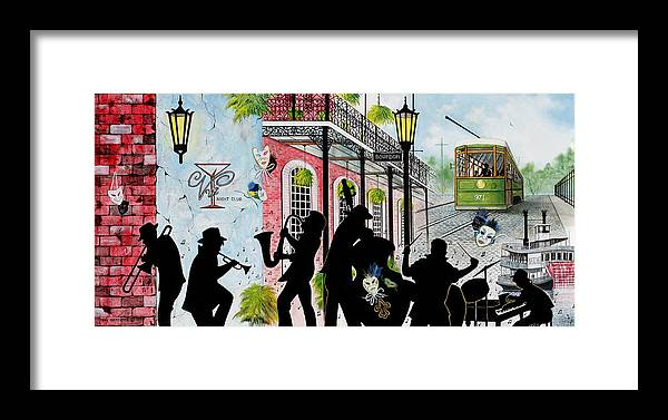 City Framed Print featuring the painting New Orleans Magic by Don Griffiths