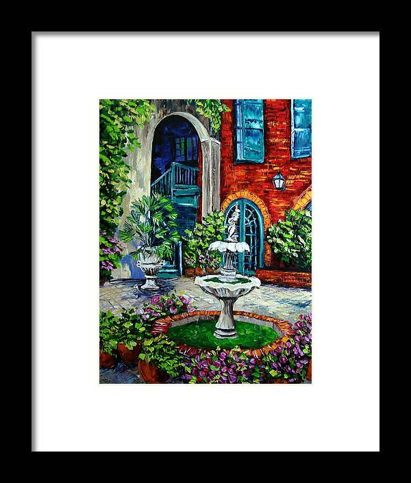 Sasik Paintings Framed Print featuring the painting New Orleans Painting Brulatour Got A Penny by Beata Sasik