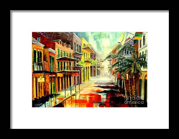 New Orleans Framed Print featuring the painting New Orleans Summer Rain by Diane Millsap
