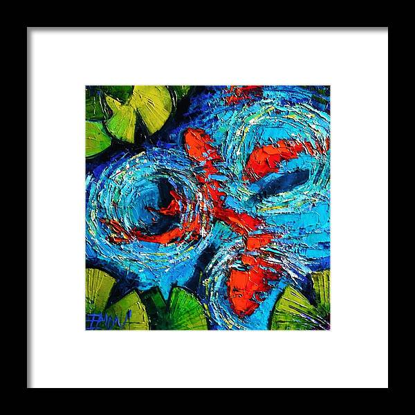 Beautiful Framed Print featuring the photograph New Painting! #koi #fishes #oilpainting by Mona Edulesco