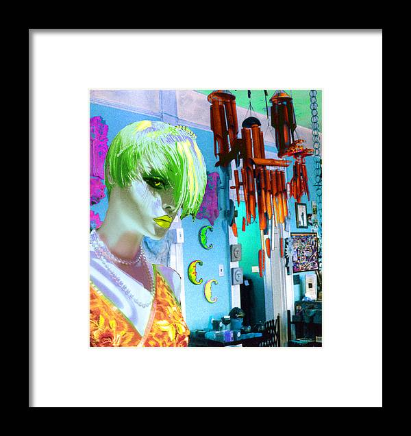 Woman Framed Print featuring the digital art New by Sarah Crumpler