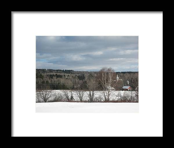New Sweden Maine Framed Print featuring the photograph New Sweden Maine by Chris Hearn