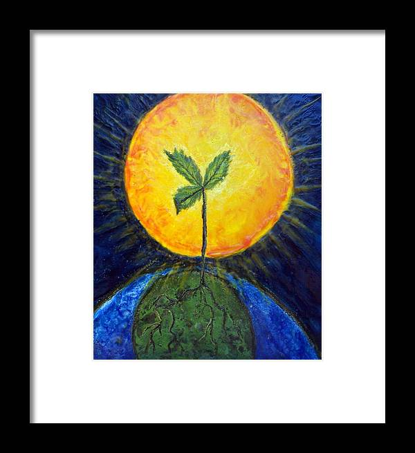 Sun Framed Print featuring the painting New Thought by Karla Phlypo-Price