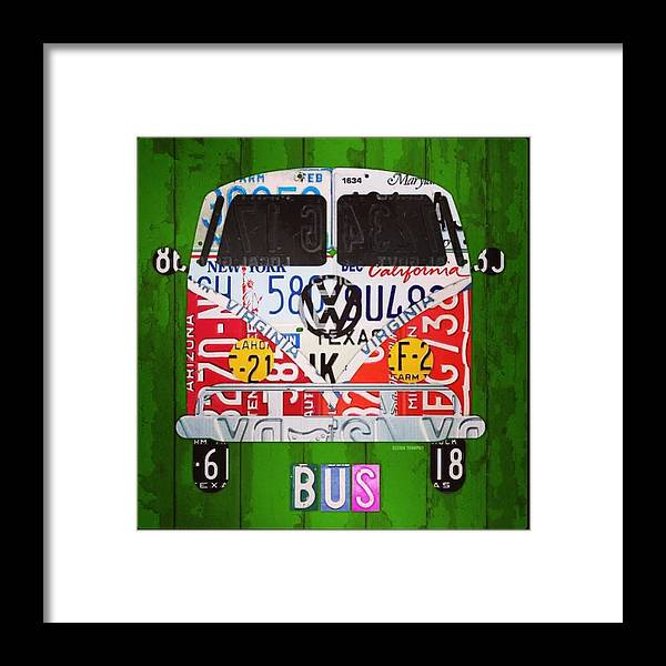 Faaartist Framed Print featuring the photograph New #vw License Plate Art Series Out On by Design Turnpike