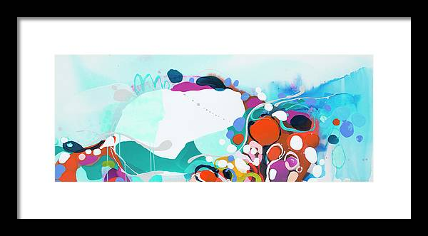 Abstract Framed Print featuring the painting New Ways by Claire Desjardins