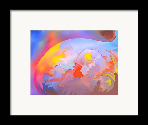 Abstract Framed Print featuring the digital art New World by Peter Shor
