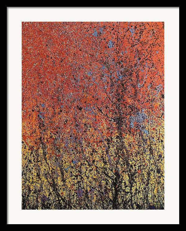 Abstract Framed Print featuring the painting New World's Eve by Steven Dean