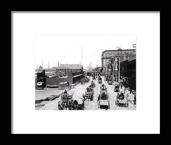 New York City West Street - 1885 Framed Print by Merton Allen