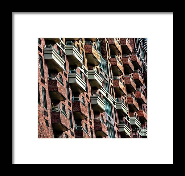New York Framed Print featuring the photograph New York Apartments by Chuck Kuhn
