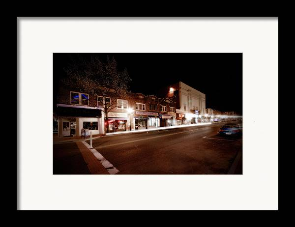 Huntington Framed Print featuring the photograph New York Ave South by Michael Simeone