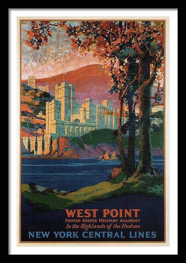 New York Central Lines - West Point - Retro travel Poster - Vintage Poster by Studio Grafiikka