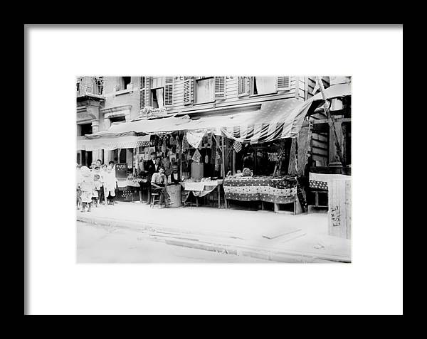 1900s Framed Print featuring the photograph New York City, Italian Wares On Display by Everett
