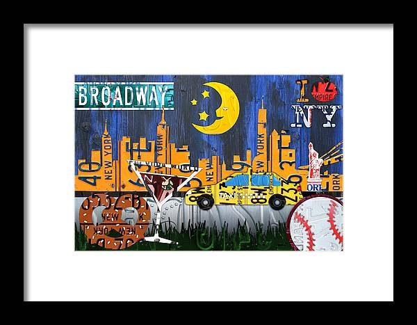 New York City Nyc The Big Apple License Plate Art Collage No 1 ...