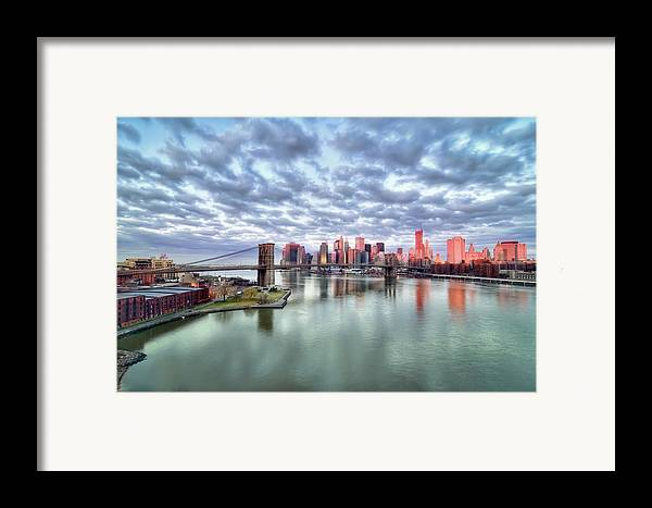 Horizontal Framed Print featuring the photograph New York City by Photography by Steve Kelley aka mudpig