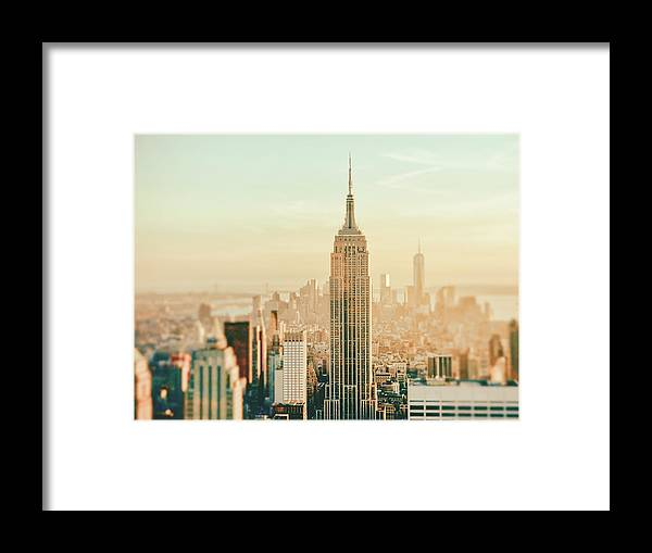 Nyc Framed Print featuring the photograph New York City - Skyline Dream by Vivienne Gucwa