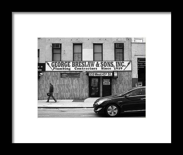 Alley Framed Print featuring the photograph New York City Storefront Bw4 by Frank Romeo