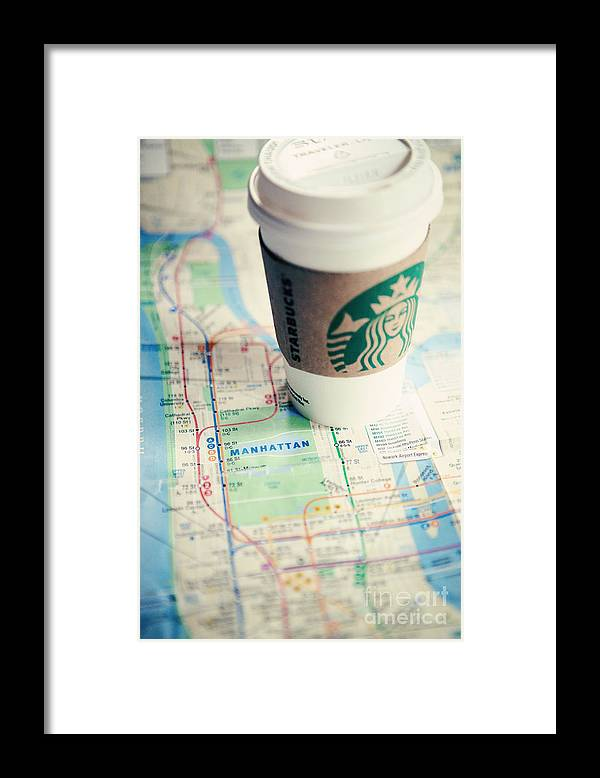 Nyc Framed Print featuring the photograph New York City Subway Map by Kim Fearheiley