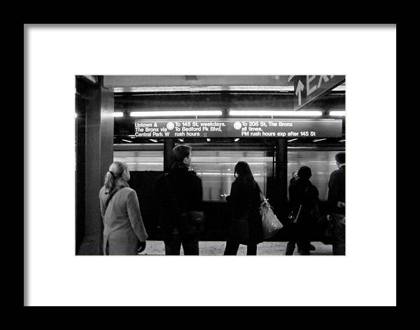 New York Framed Print featuring the photograph New York City Subway by Patrick Flynn