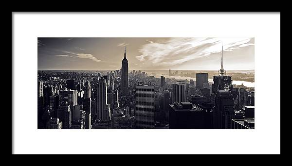 New York Framed Print featuring the photograph New York by Dave Bowman