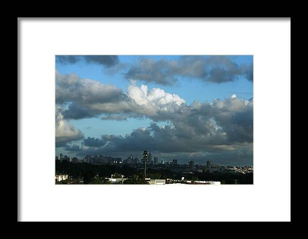 City Framed Print featuring the photograph New York In The Distance by Paul SEQUENCE Ferguson       sequence dot net