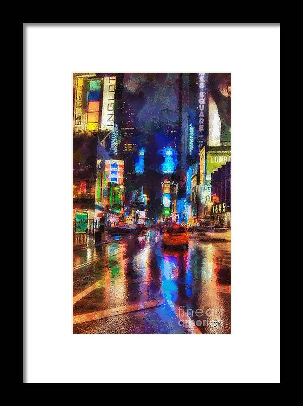 New York Framed Print featuring the painting New York by Mo T