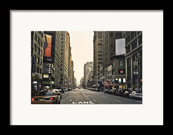Nyc Framed Print featuring the photograph New York New York by Wes Shinn